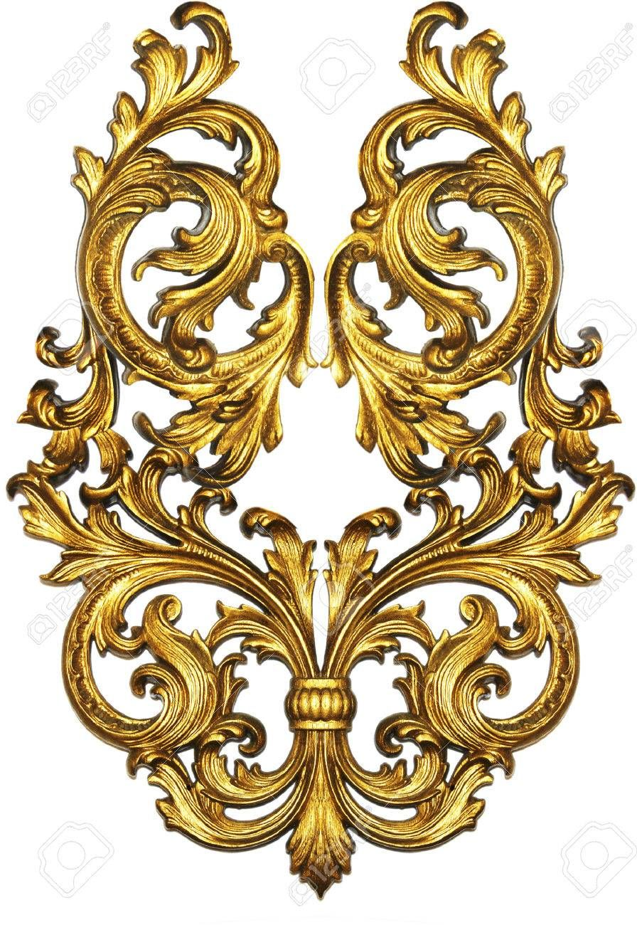 golden baroque isolated on white background Banque d'images - 31247219