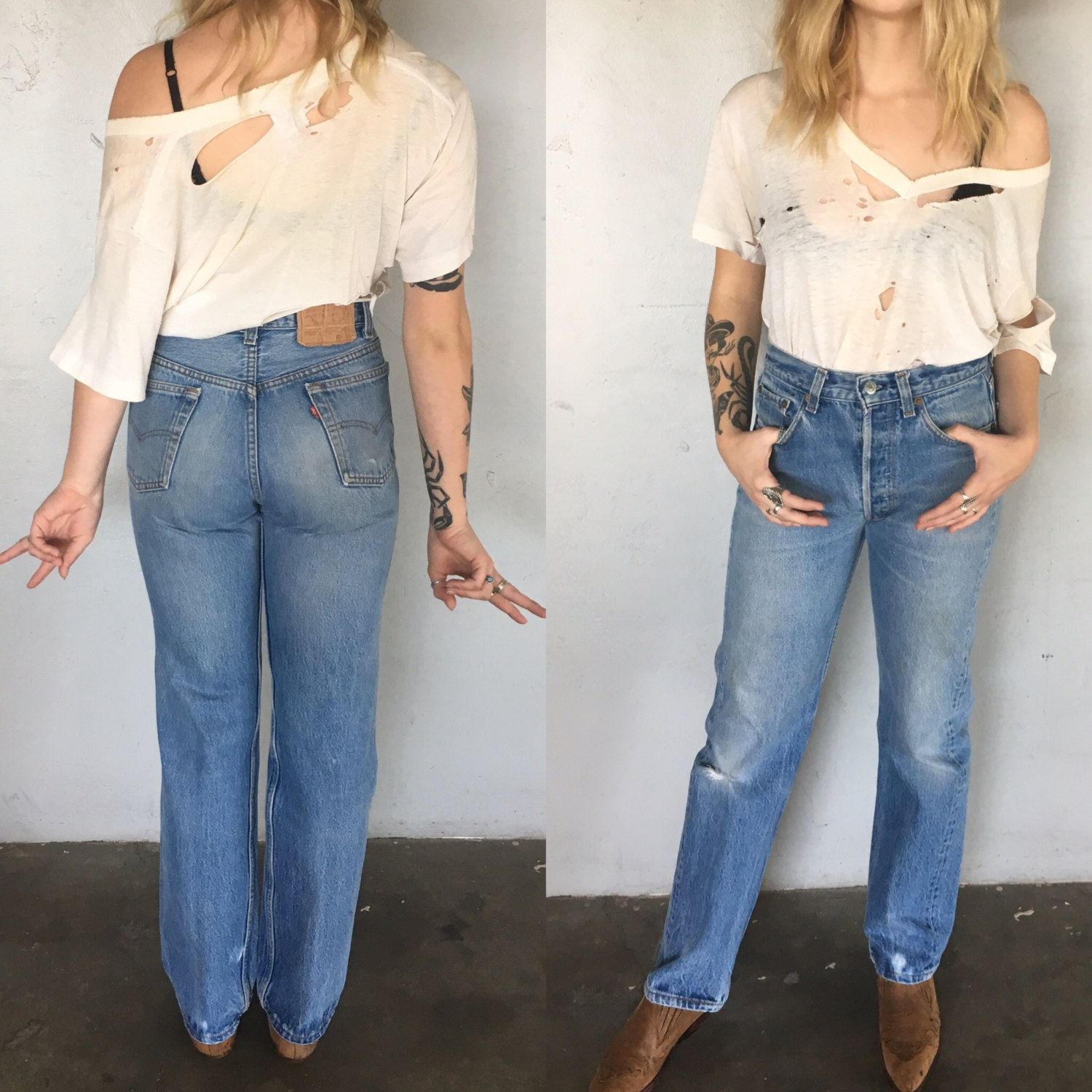 260eab6f Levi's 501 xx jeans mens womens levis vintage W 31 L 33 classic fit hips or  high waisted broken worn in perfect cut cuff whatever super rad by ...