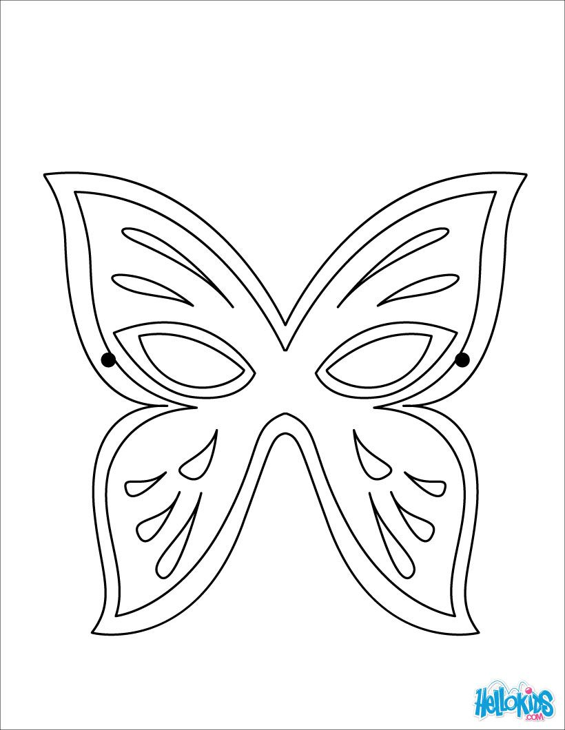 Masks Coloring Pages Butterfly Mask Butterfly Mask Mask Template Printable Butterfly Coloring Page