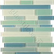 love the sea glass colors; Davinci Cane Blends, Random Bricks, Blue Blend, Glossy, Blue, Glass