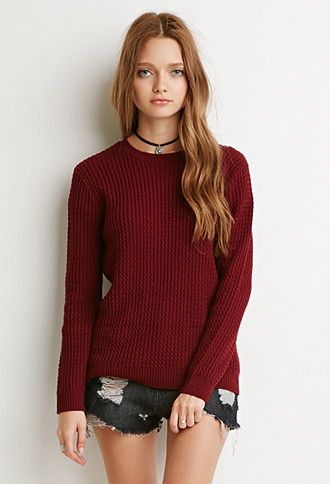 Ribbed Cable Knit Sweater | Forever 21 - 2000161571 | CLOTHES ...