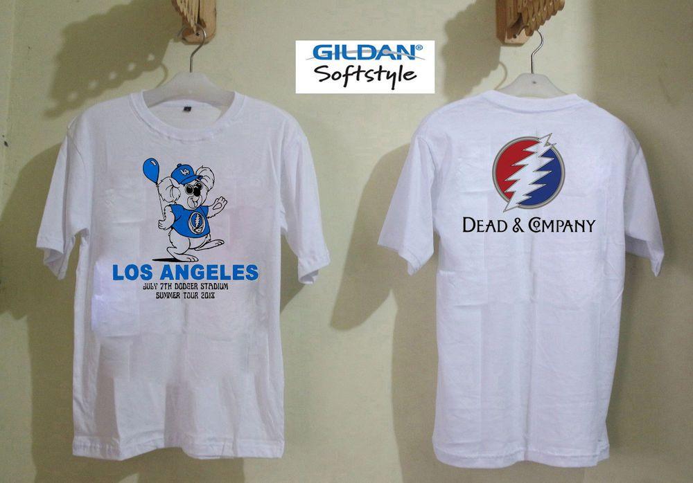 Dead And Company Summer Tour Logo Men/'s White T-Shirt