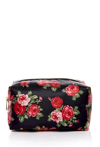 Rose Print Makeup Bag Forever 21 beautymark Cute