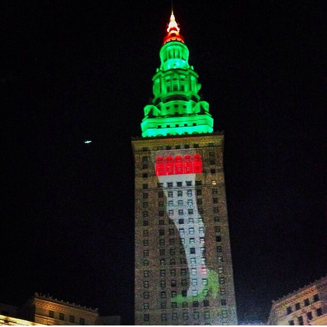 Christmas Lights On Cleveland Public Square: Only In Cleveland .. The Infamous Lamp From A Christmas