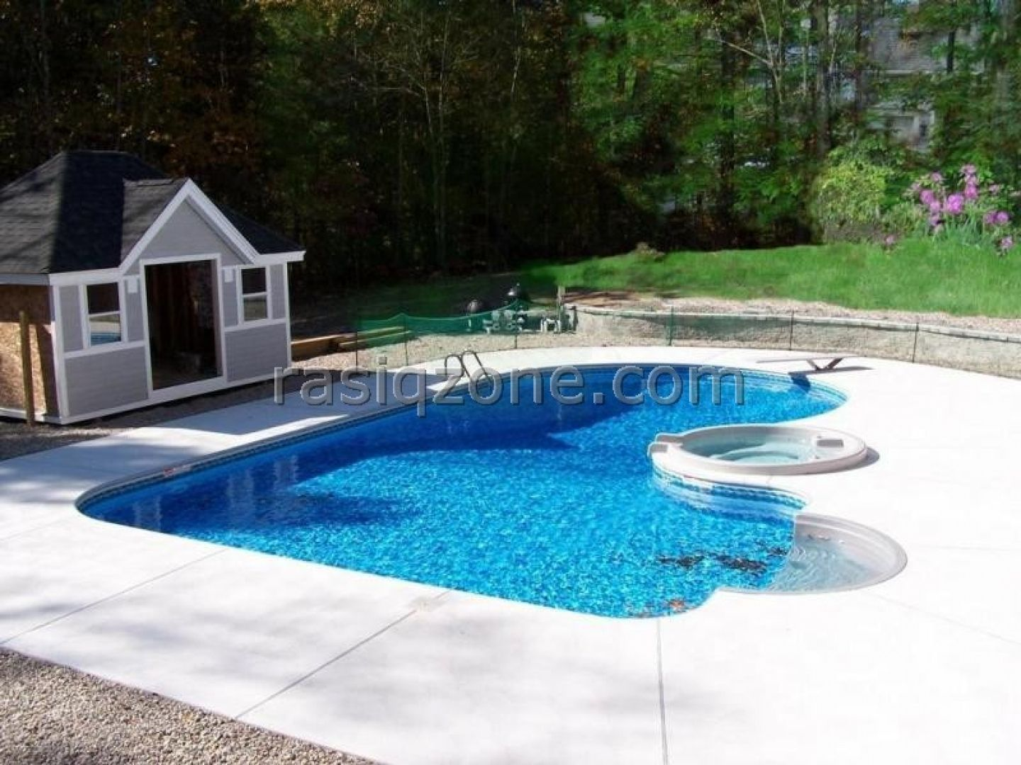 Inground pools kids will love pool designs backyard for Back garden swimming pool
