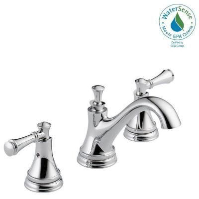 delta silverton 8 in widespread 2 handle bathroom faucet in chrome rh pinterest com