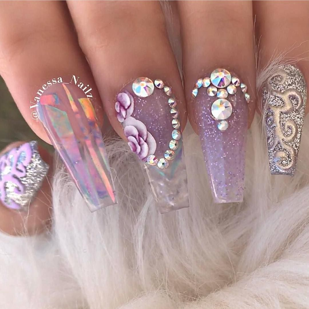 Pin by Joselyn Gomez on Nails | Nails, Bling nails, Coffin ...