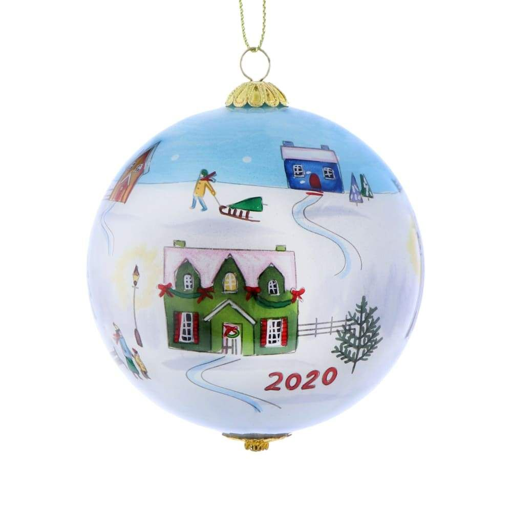 Li Bien Village Ornament Reverse Painted Ornaments Design Ornaments