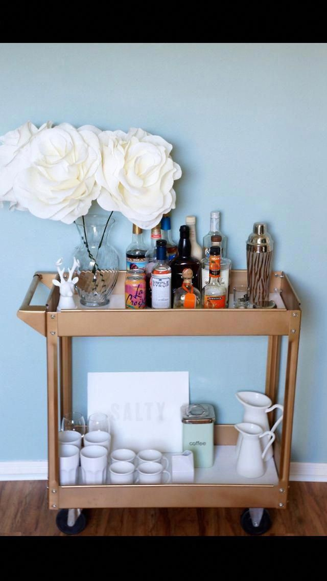 "See our site for more details on ""gold bar cart styling"". It is actually an excellent area to read more. #goldbarcartdecor"