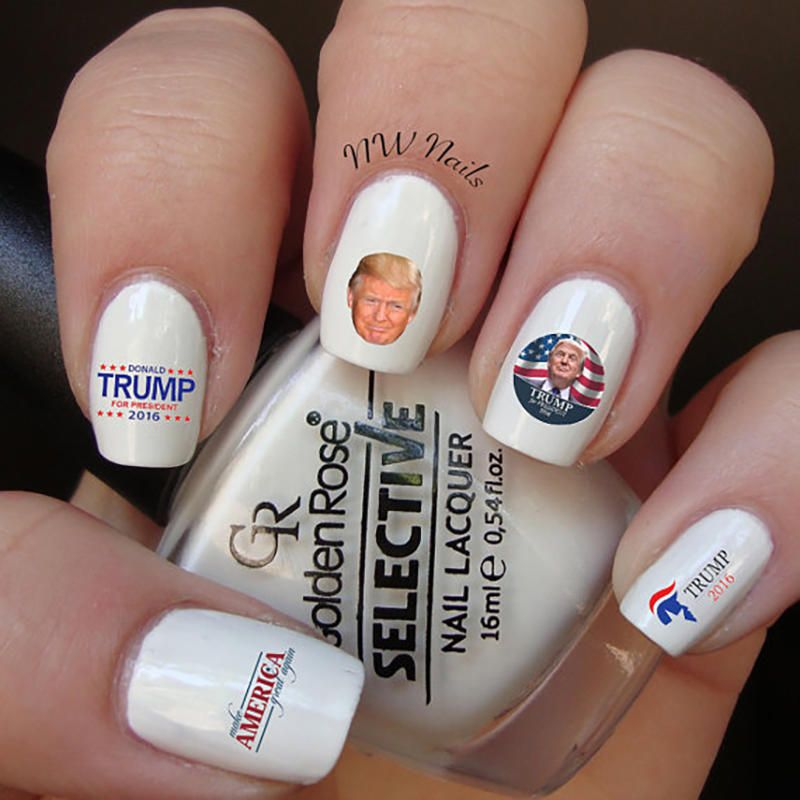 Make Your Mani Great Again With This Nwdesignstudio Product Trump Nail Decals Much Easier Than Trying To Freehand A Tiny Face On Fingers