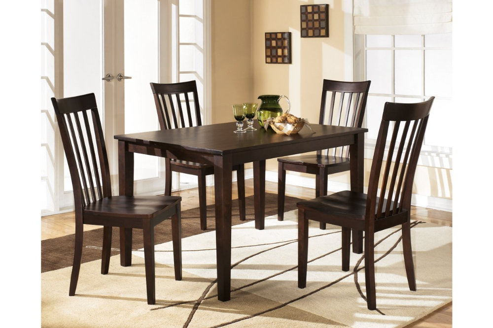 Hyland Dining Table And Chairs Set Of 5 Ashley Furniture Homestore Dining Room Table Set Rectangular Dining Room Table Dining Room Sets