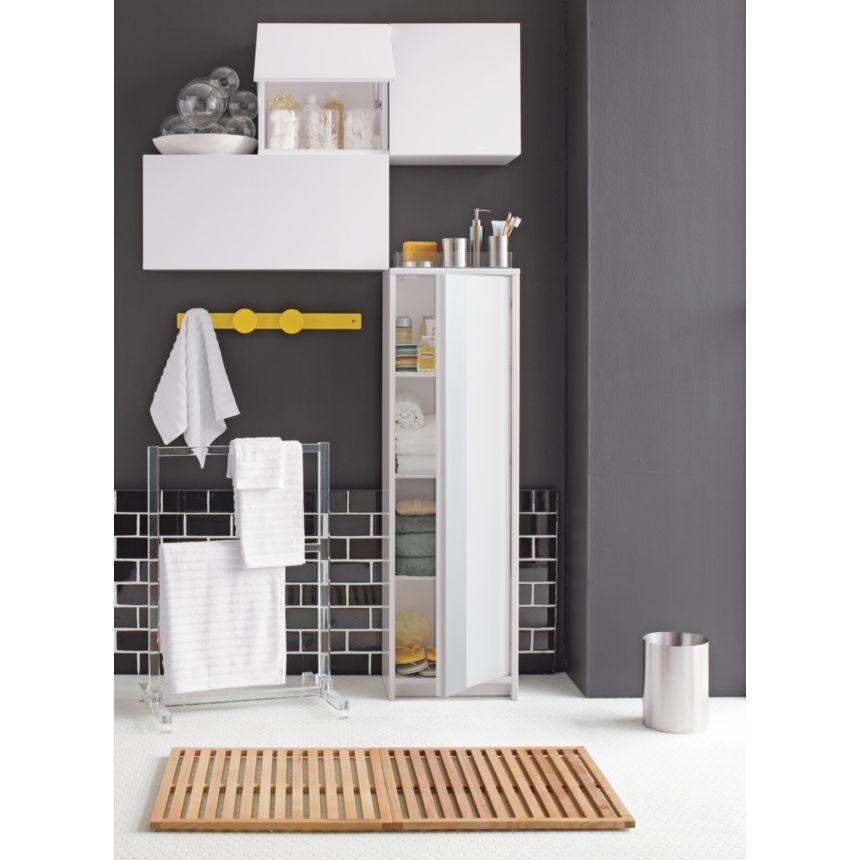 Wood slats bath mat DIY Bathroom Wall