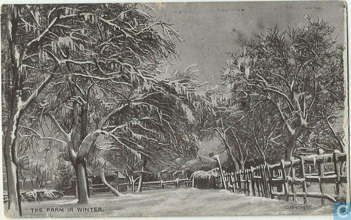 The farm in winter - 1909, UK