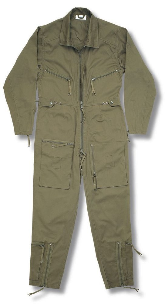 Flying Suit Flight Pilot Continental Aviator Army Force Coverall Boiler Olive Ebay Flight Suit Coveralls Jumpsuit Men