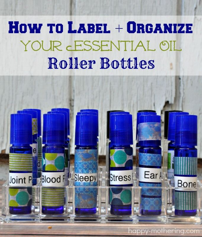 This is a photo of Universal How to Label Essential Oil Roller Bottles