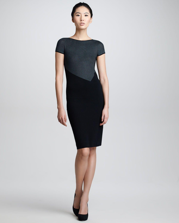 Black knit dresses for women