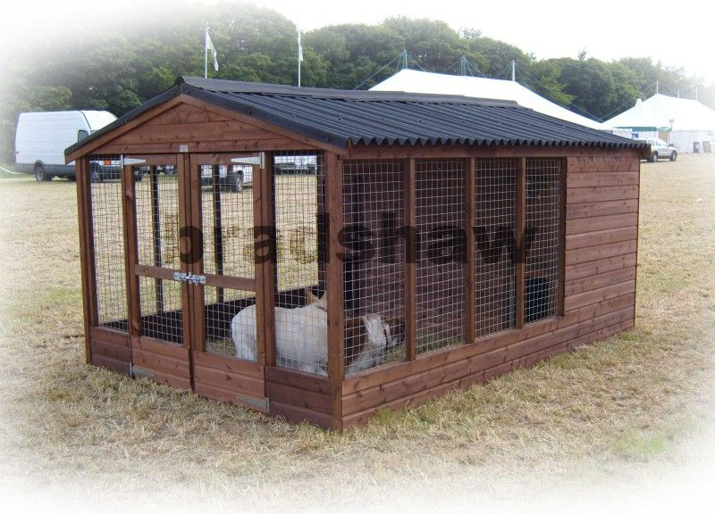 Dog Kennel Plans for Construction | Dog & Cat Kennels - Bradshaw Timber Animal Housing