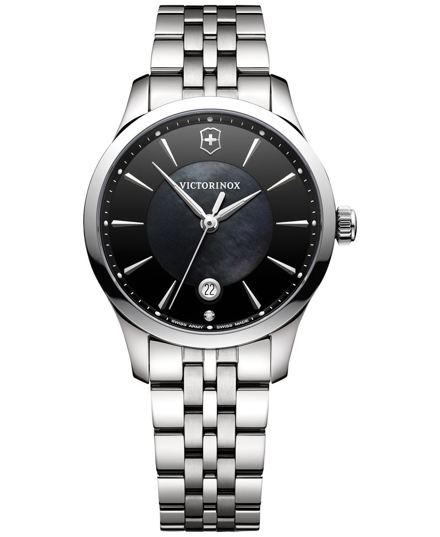Victorinox Swiss Army Women's Alliance Diamond Accent Stainless Steel Bracelet Watch 35mm 241751
