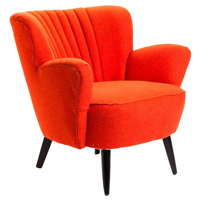 orange moro club chair i n t e r i o r s chair home club chairs rh pinterest com