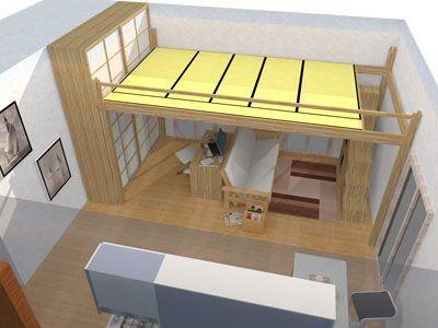 Soppalco letto rising soppalco in legno con regolazione dell 39 altezza elettricamente camere - Letto a soppalco cinius ...