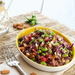 SALADS  vintagemermaid.com   Edamame Quinoa Salad