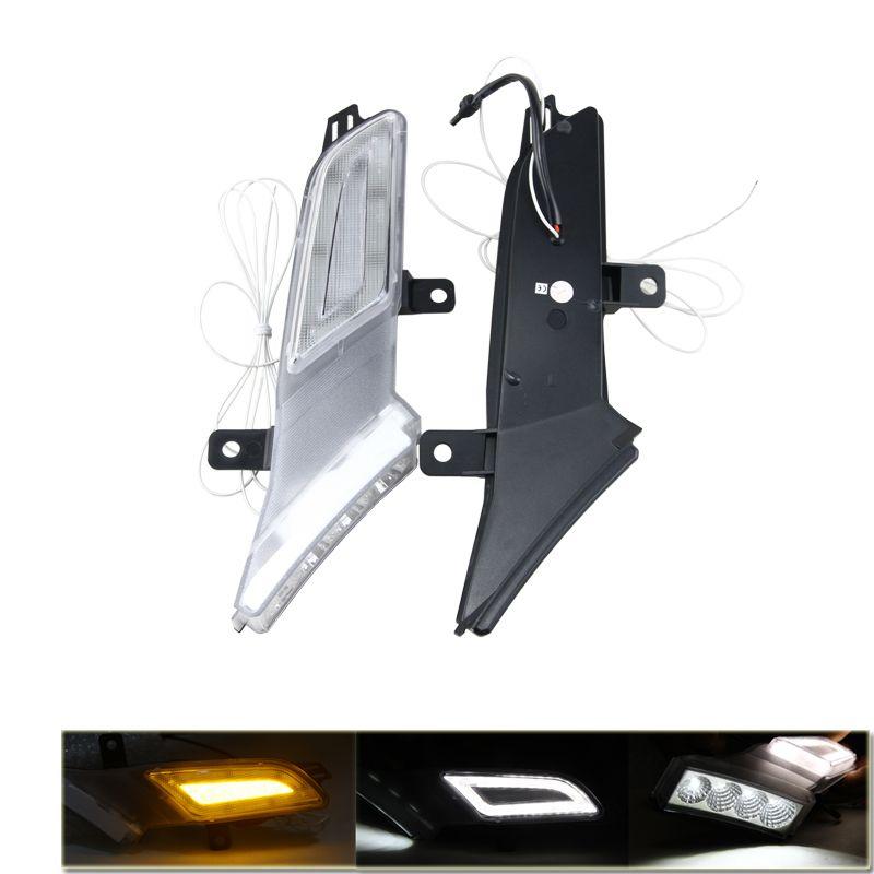 Brand New One Set Led Amber Side Marker Turn Signal Lights W