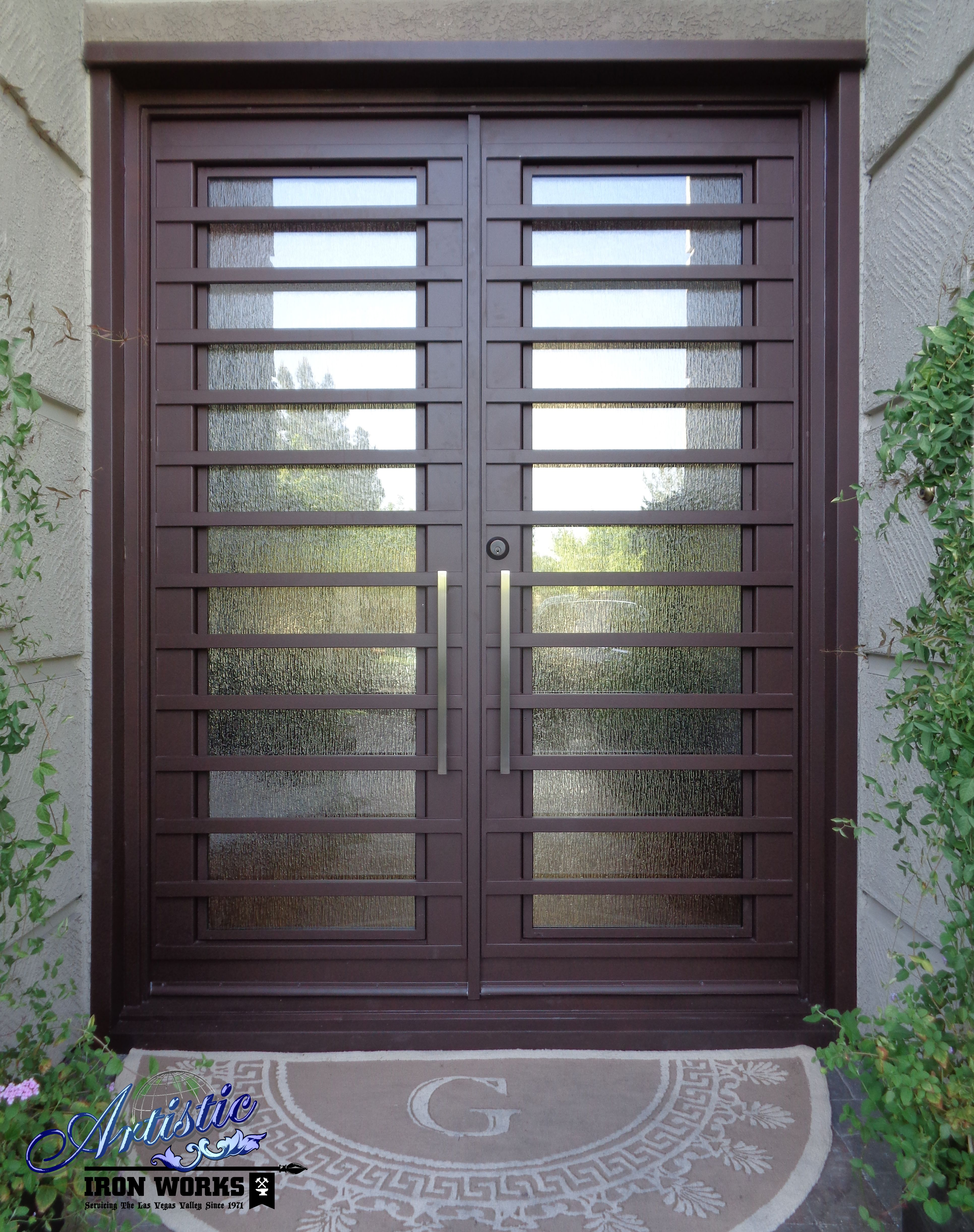 Wrought Iron And Glass Entry Door Model Fairfax Ge0054 Wrought