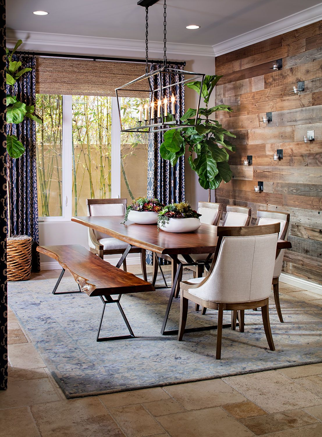 dining similar layout rectangular table with bench plant in the rh pinterest com