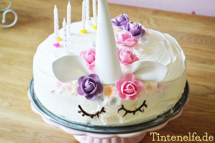 Einhorn Torte Kuchen Einfach Easy Peasy Simpel Geburtstag