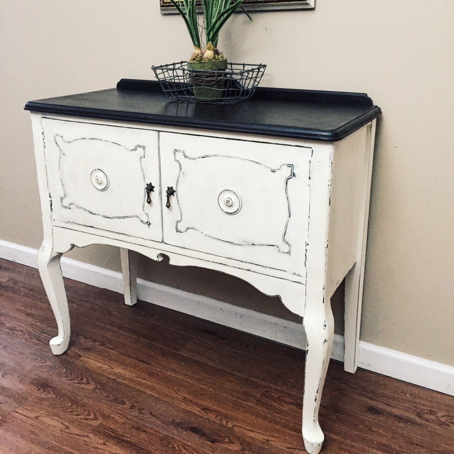sideboard buffet with pretty queen anne legs vintage sideboard rh pinterest com