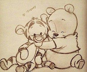 Old School Winnie The Pooh And Tiger Desenhos Aleatorios