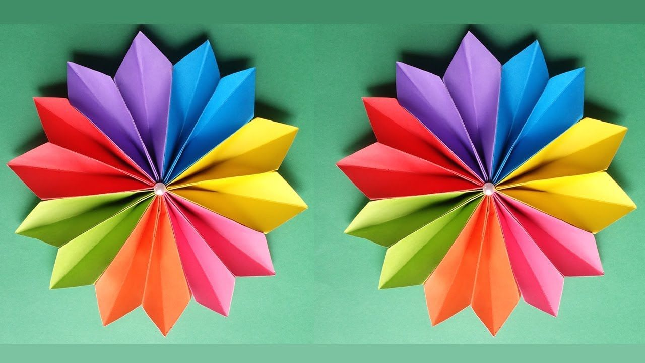 How to make a beautiful flower with colour paper basteln how to make a beautiful flower with colour paper izmirmasajfo