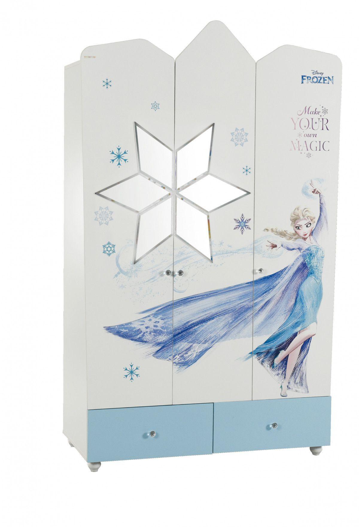 Armoire enfant à 3 portes et 2 tiroirs design la reine des neiges ...