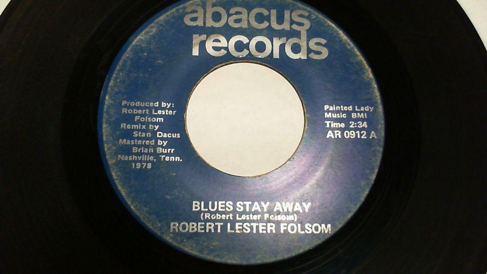 Robert Lester Folsom - Blues Stay Away (Progressive Folk Rock 45 Vinyl) Abacus #ProgressiveArtRock