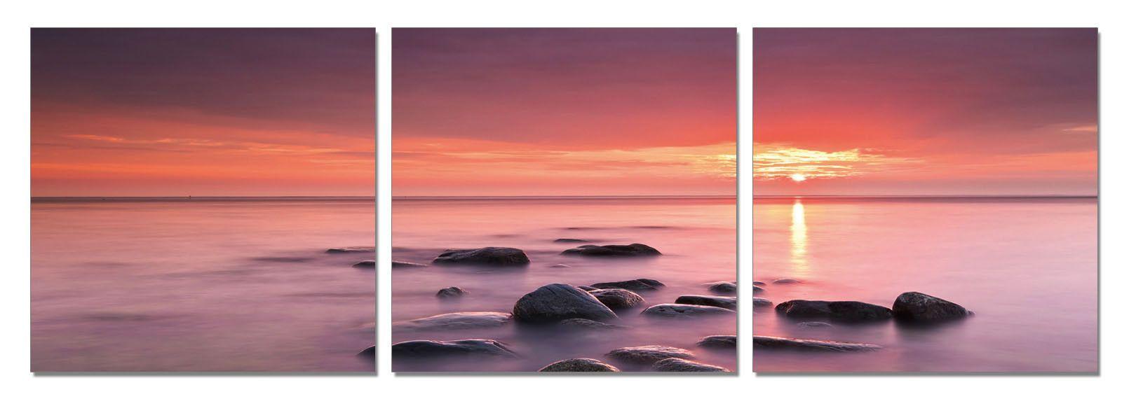 Pink Sunset On Rocks Pink Sunset Sunset Landscape