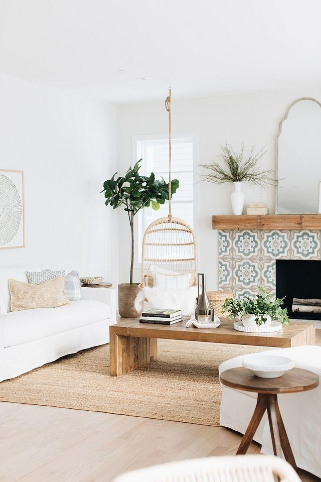 Coastal farmhouse home decor coastal farmhouse home decor - Hanging chair living room ...
