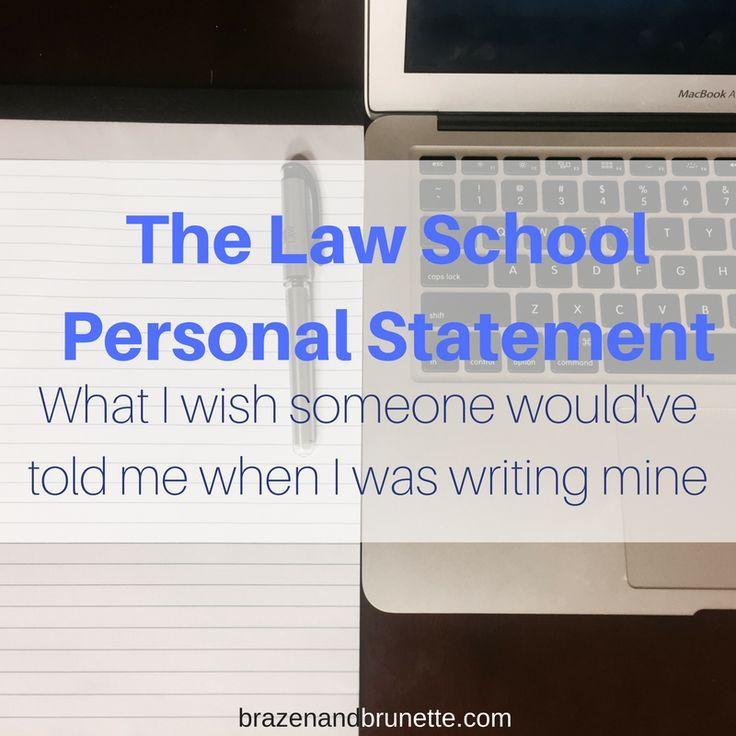 Personal Statement Advice  Advice School And Lsat Prep