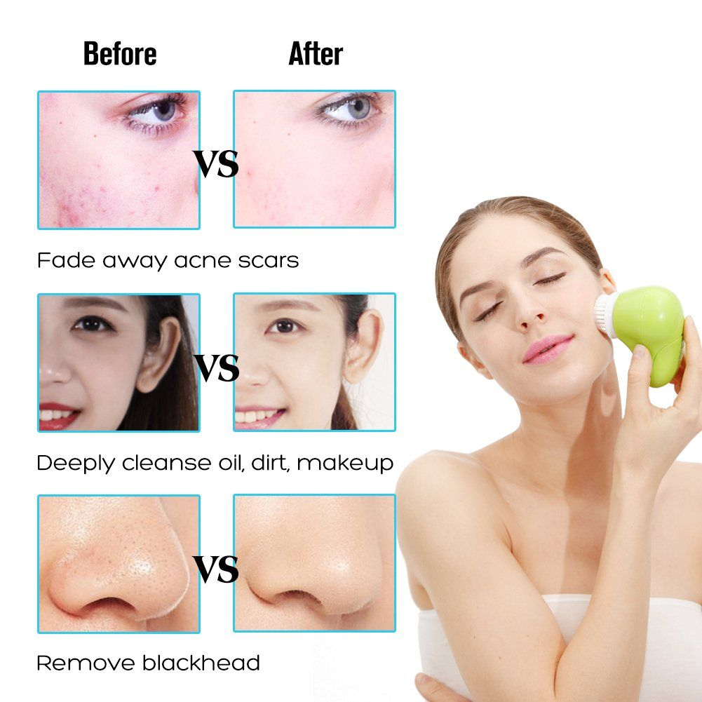 Facial Cleansing Brush Waterproof Deep Cleaning Pore Spining