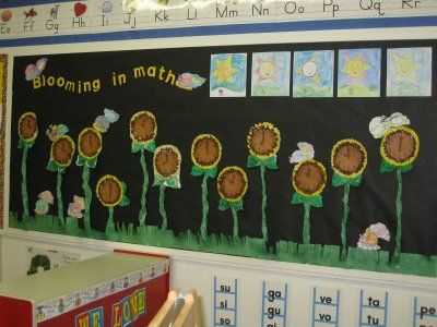 Open House Ideas   Sunflower Clocks. Kindergarten ...