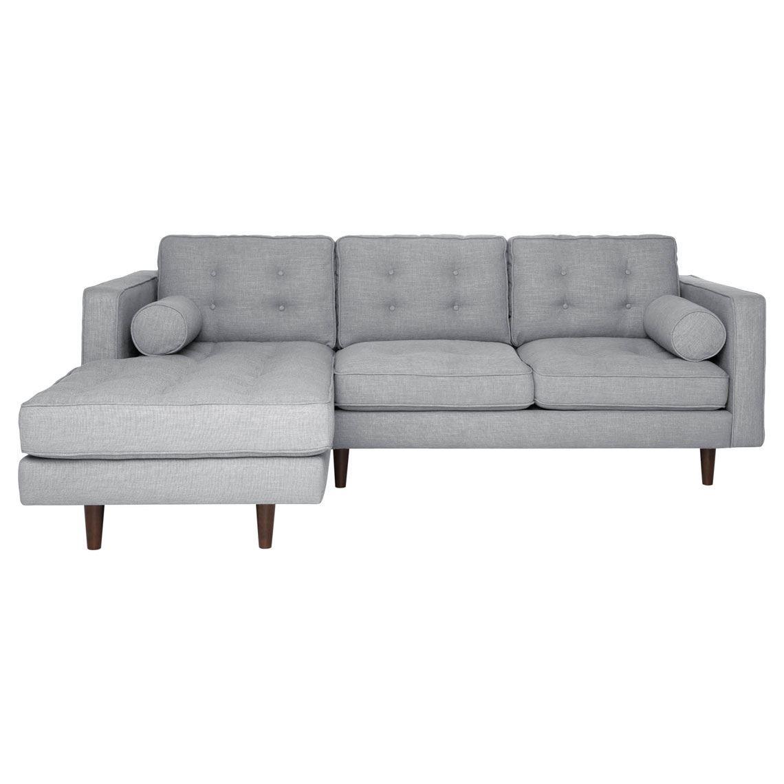 Copenhagen 2 Seat Fabric W Left Chaise Size W 229cm X D 177cm X H 83cm In Light Grey Fabric Foam Fibre Freedom Modular Sofa Sofa Contemporary Furniture