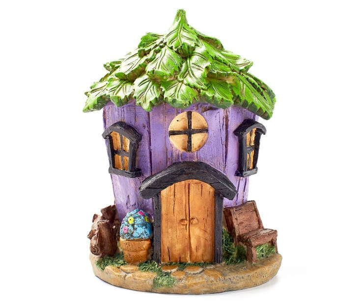 $10.00 Fairy Garden Purple Leaf Roof House at Big Lots. BACK YARD