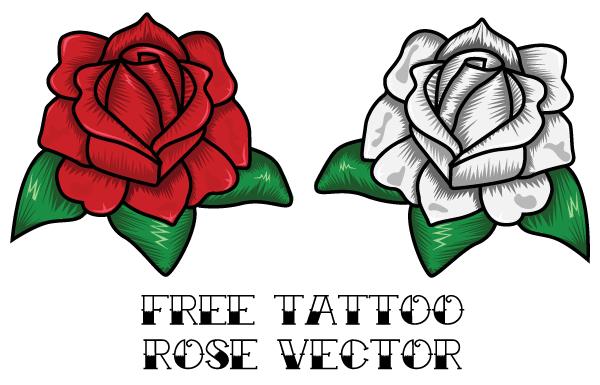 Free Rose Tattoo Vector Rose Tattoo Design Rose Tattoo Traditional Tattoo Art