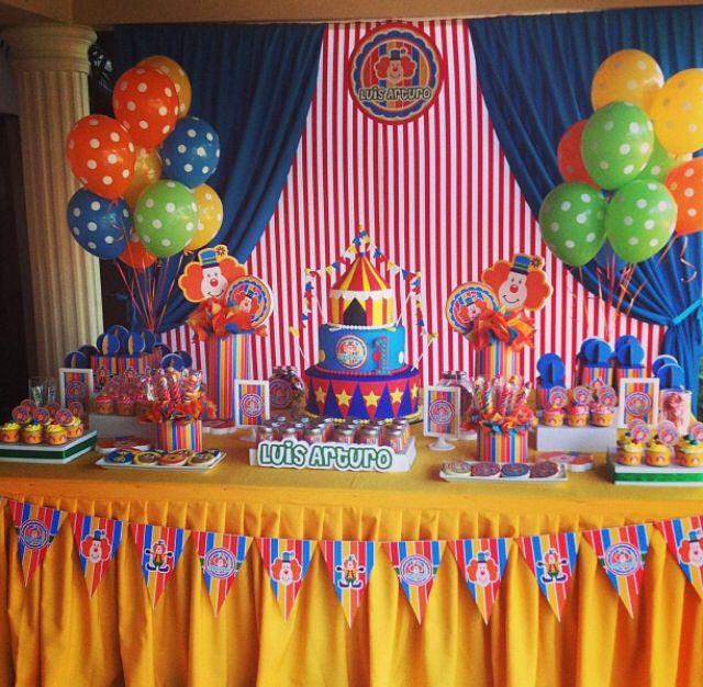 Circus Birthday Fiesta De Circo Decorar Cumpleaños