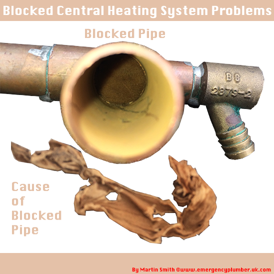 Got a blocked central heating pipe but unsure on what to do, here ...