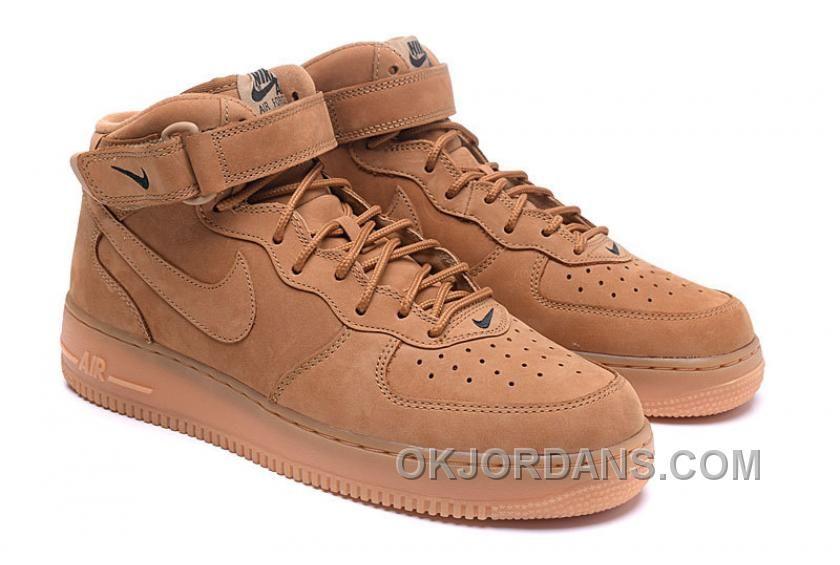 Nike Air Force 1 Mid FLAX 715889 200 Mens 2016   Nike Air