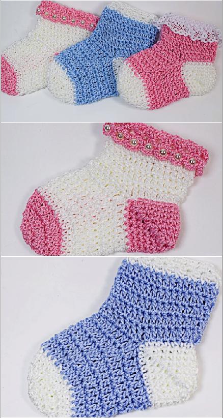 fast and easy baby socks | CROCHET | Pinterest | Bebe, Tejido y ...
