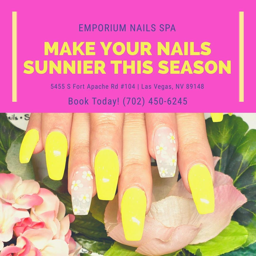 Make Your Nails Sunnier This Season Emporiumnailsspa Book Today Call 702 450 6245 Text Nicky 915 Nail Spa You Nailed It Body Waxing