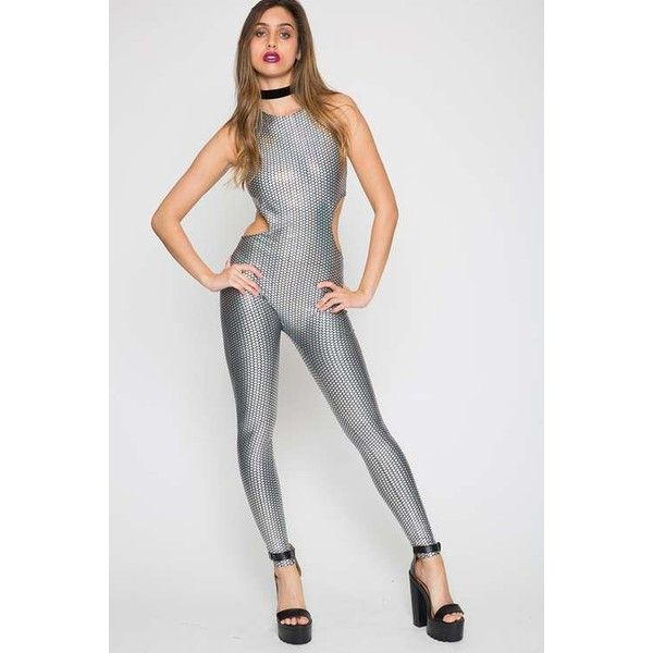 3af4cca5c0a Mermaid Catsuit by Jaded London ( 63) ❤ liked on Polyvore featuring  jumpsuits