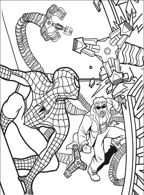 Spiderman Vs Doctor Octopus Coloring Pages - Spiderman cartoon ...