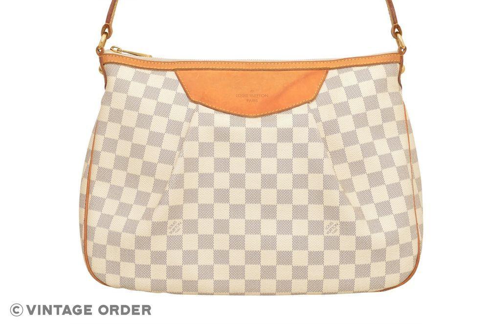 f68183ccc9a4 Louis Vuitton Damier Azur Siracusa MM Shoulder Bag N41112 - E02763  fashion   clothing